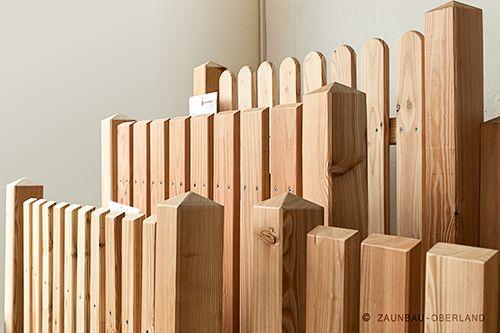 Zaunfelder vormontiert Larix @Zaunbau-Oberland