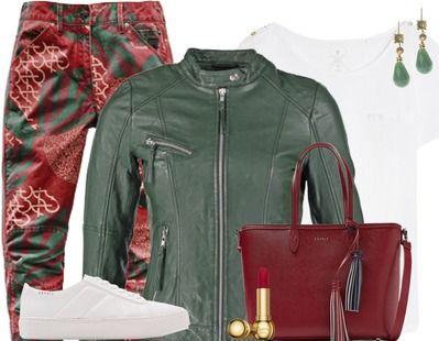"""Casual Outfits """"G-star raw red &green"""" samengesteld door P's choise via stylefruits.nl. Artikelen zijn direct bij onze partnerhops te bestellen!"""