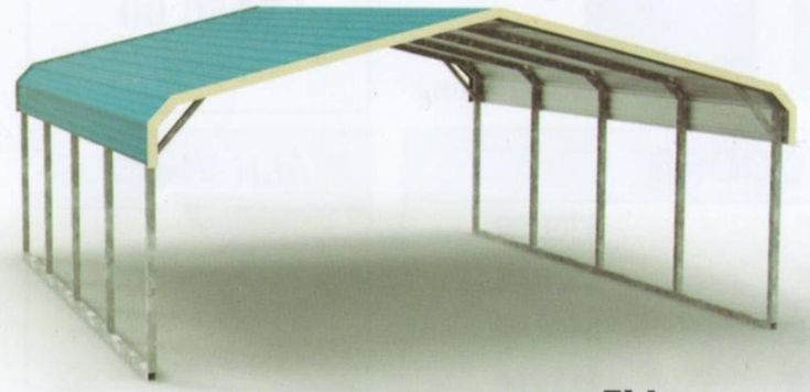 Regular Style All Steel Carport Cover 18' x 21' x 6' (9' center clearance)