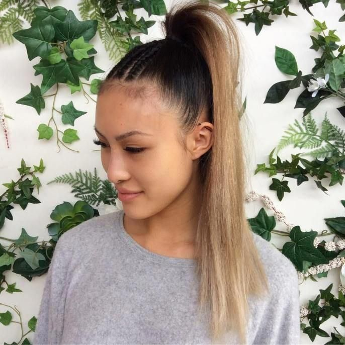 Ponytail With Cornrows For Straight Hair #Blackhairstyles