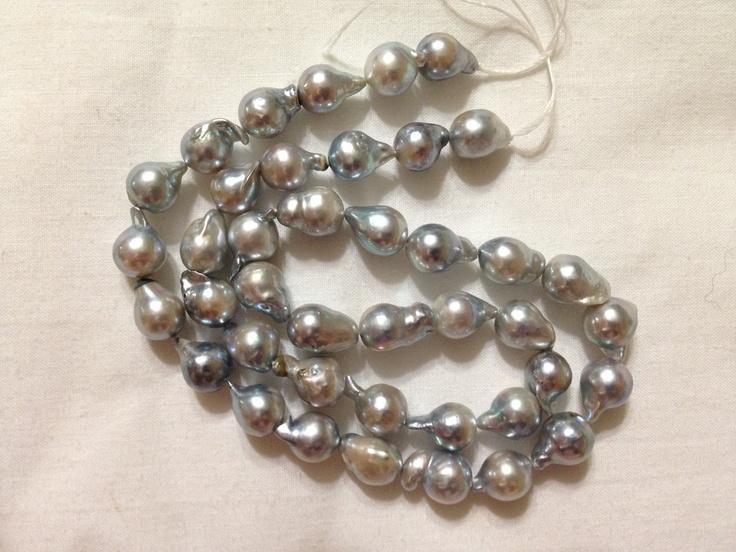 Platinum Blue and cream china sea akoya pearls by BeautifulPearls, $69.00