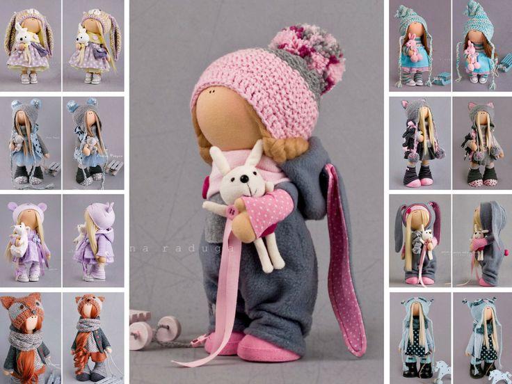 Soft doll Winter doll Tilda doll Interior от AnnKirillartPlace