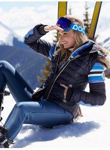BOGNER Women Designer Ski Wear | Navy-Blue 'Winona-dp' Jacket with Fur trim