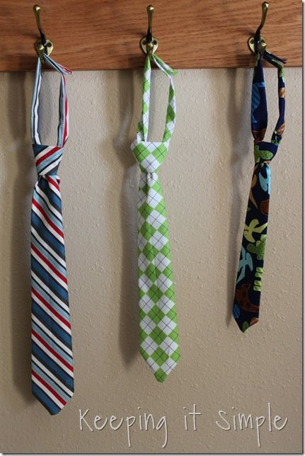 Velcro Boys Ties from Keeping it Simple Crafts @Rebekah Ahn Caillouet