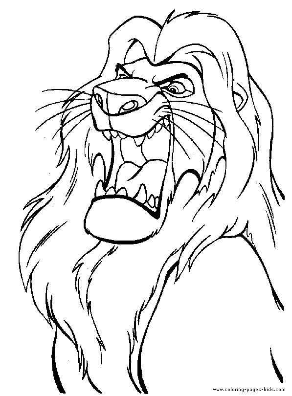 468 Best Kids Color Pages Images On Pinterest Coloring Sheets - lion king coloring pages disney