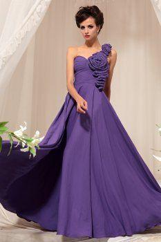 Violet épaule demoiselle d'honneur toasts robe de soirée haut de gamme
