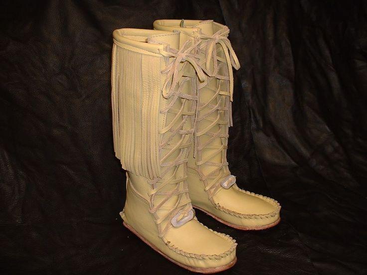 Buffalo Knee High Pawnee Style Moccasins Indian Men S Or