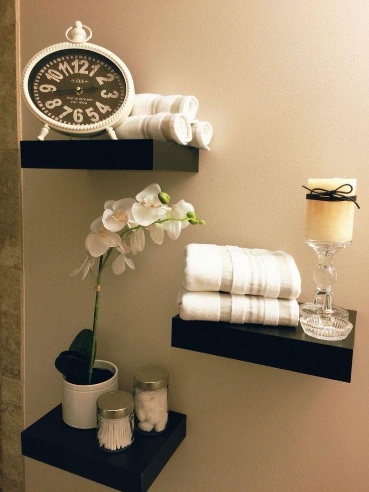 Bathroom shelves. Shelves above toilet. Bathroom decor. Floating shelves.    Ba …   – Small Bathroom Remodel Labor Cost