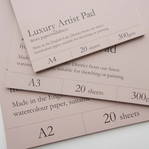 Our range of luxury artist pads