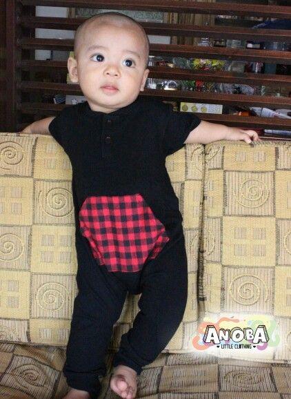 Romper for boys #ANOBA #baby #babyboy #fashionkids #babyfashion