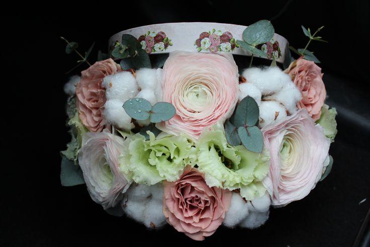 Cutie cu flori #flowers #box #flowersbox #flowersinabox #gift #sayitwithflowers #madewithjoy #madewithlove #paulamoldovan #livadacuvisini #flori #evenimente #candybar #bucuresti ##bucharest #florist #pink #peonies #bujori #cappuccino  #roses #ranunculus #cotton #bumbac #white #eustoma #eucalipt #cutie #flori #cutiecuflori #floriincutie #cutieflori