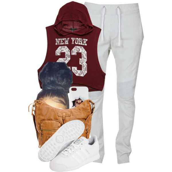 A fashion look from January 2015 featuring Forever 21 tops and Balmain activewear pants. Browse and shop related looks.