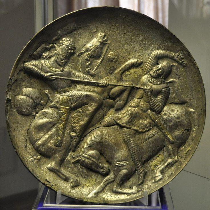 Sassanid plate, Azerbaijan Museum, Tabriz, Iran