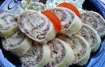 Sonkás,tojáskrémes sajttekercs
