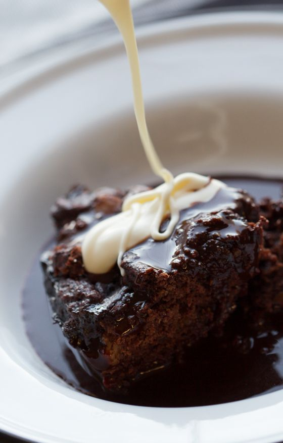 self saucing chocolate cake with bourbon creme fraiche chocolate dessert recipes