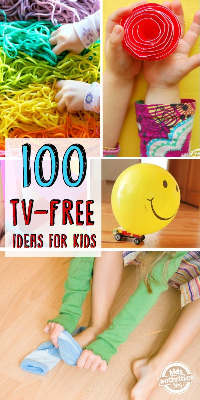 100 tv free ideas for kids. Keep kids busy this summer with these great activities.