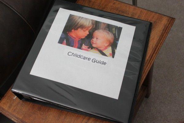 IMG_7896, babysitting folder, emergency contact list, to do list for babysitter
