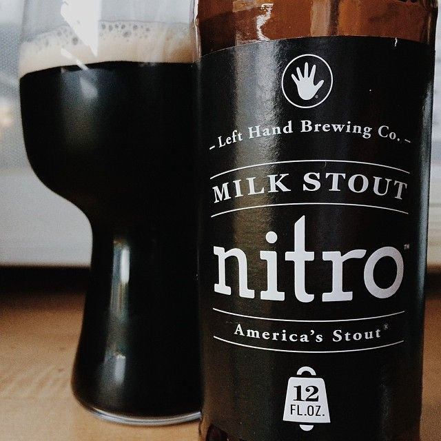 Left Hand Nitro Milk Stout & the stout glass from @thatcraftbeergirl on instagram. #stout #craftbeer