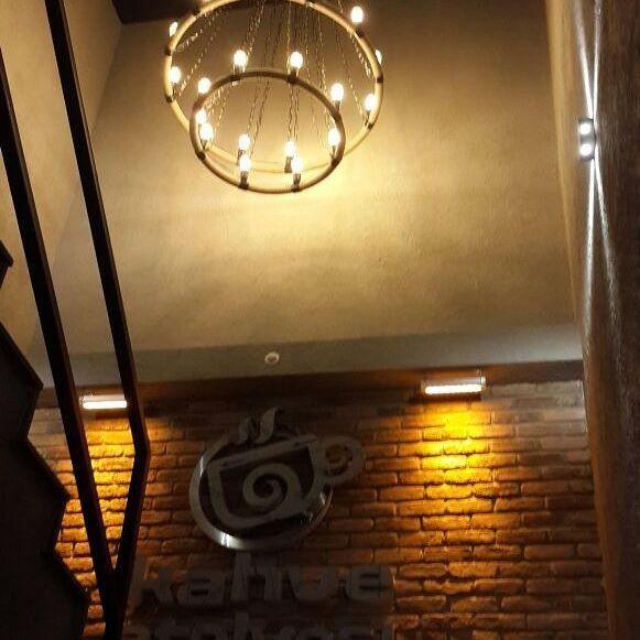 Kahve atolyesi #kahveatolyesi #avize #lighting #izmir #dekoratiflamba #cafedekorasyon #bartasarim