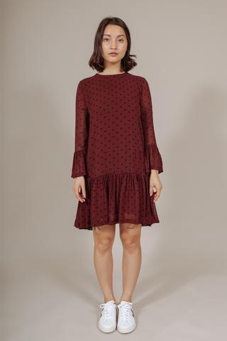 d81bab2b Carlton Georgette Dress in Decadent Chocolate by Ganni | WM GANNI ...