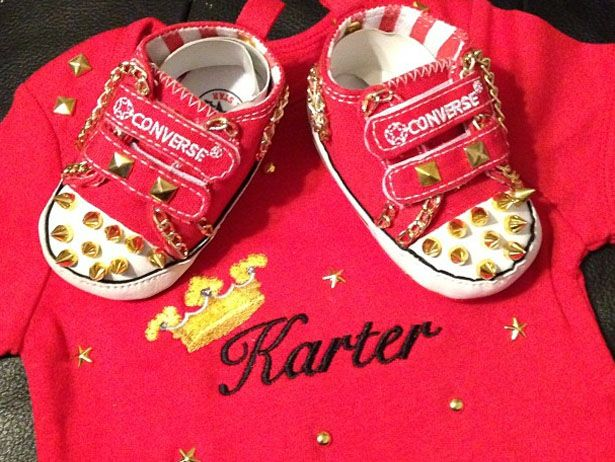 Pic Of The Day: Karter Frost's Got Some Style Rasheeda & Kirk from Love & hip hop Atlanta. Baby boy kicks L❤Ve :)