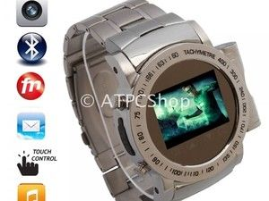 ($138.98)  Touch Screen Stainless Steel Quad Band Watch Cell Phone with Bluetooth and Camera. high speed wireless technology. This touch screen watch cell phone will work on GSM network