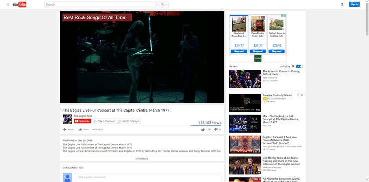 The Eagles Live Full Concert at The Capital Centre, March 1977 - YouTube