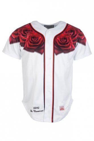 Sik Silk Rose Baseball Jersey White