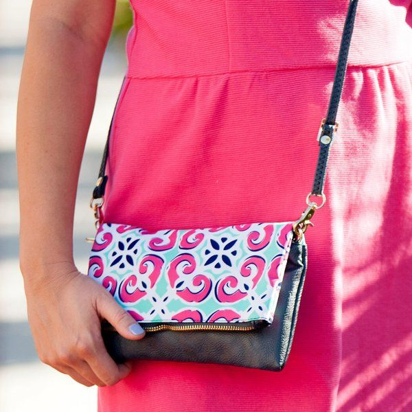 Mia Tile cross body purse available from Tickled Pink Gifts.