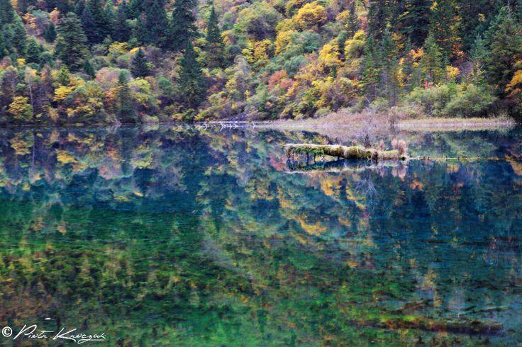 L'automne colorée dans la splendide vallée de #Jiuzhaigou aux 118 lacs #chine #automne