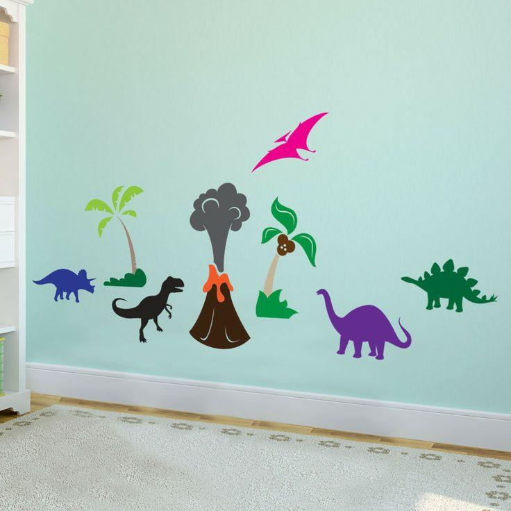 Best Nates Bedroom Images On Pinterest Volcanoes Boy - Custom vinyl wall decals dinosaur