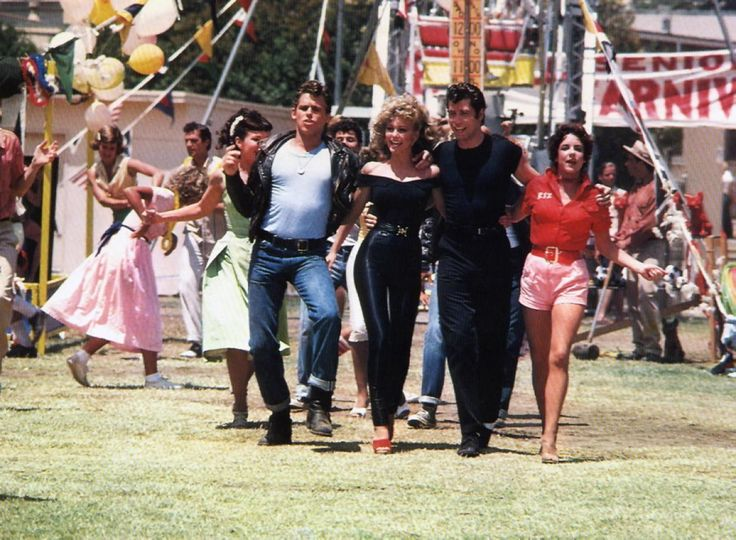 grease lobby card l to r jeff conaway olivia newton john john travolta stockard channing - Greece Halloween Costumes