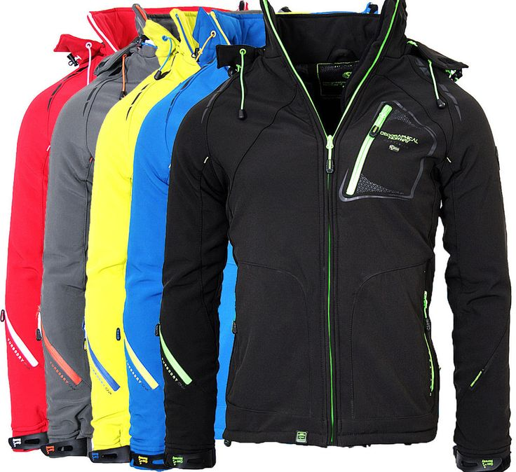 Geographical Norway Herren Softshell warm gesteppte Jacke regen Outdoor Winter