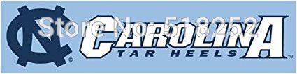 North Carolina Tar Heels Banner 2x8FT 60x240CM NCAA Flag 100D Polyester grommets Custom6038,free shipping