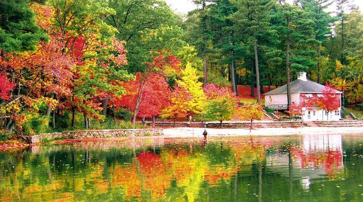 Colorful Walden Pond, MA