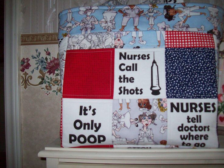 Tote bag I made my oldest daughter who is a nurse at UNC Hospital in NC