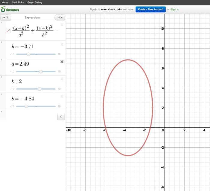 math. macs. teaching. - Infinite Sums - Conics in Desmos