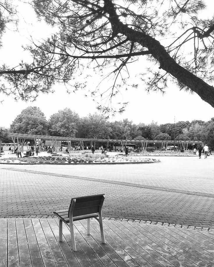 One seat bench. Paris, September 2015