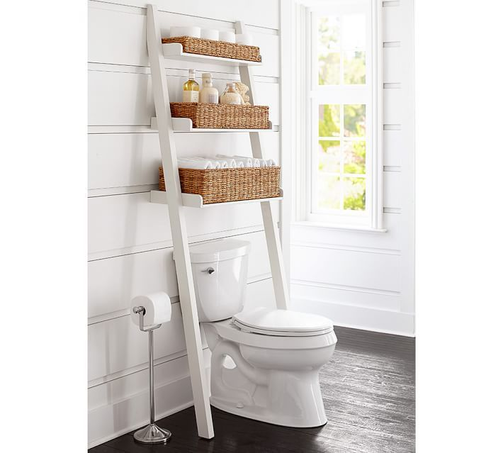 13 Ways to Do Storage in a Small Bathroom. Best 25  Ladder storage ideas on Pinterest   Garage organization