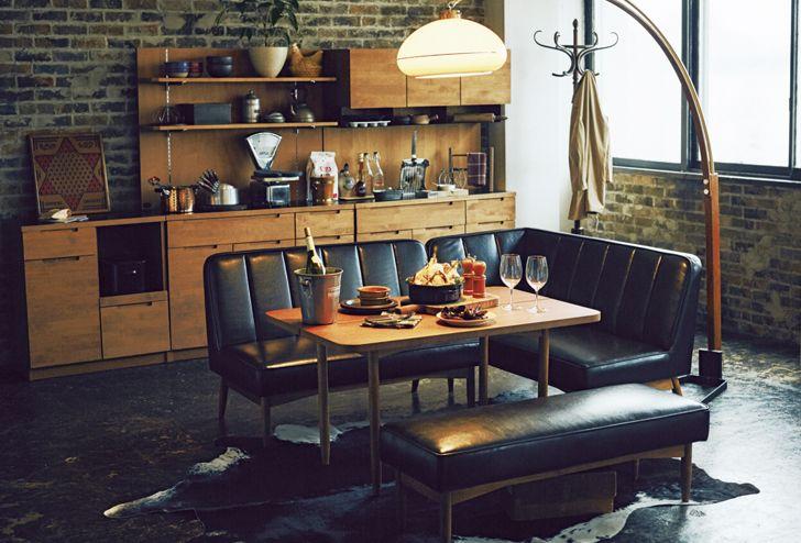 WYTHE(ワイス) ベンチ アーム   ≪unico≫オンラインショップ:家具/インテリア/ソファ/ラグ等の販売。