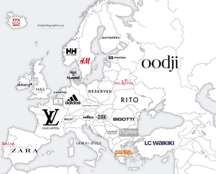 Most+Popular+Clothing+Brand+From+Each+Country