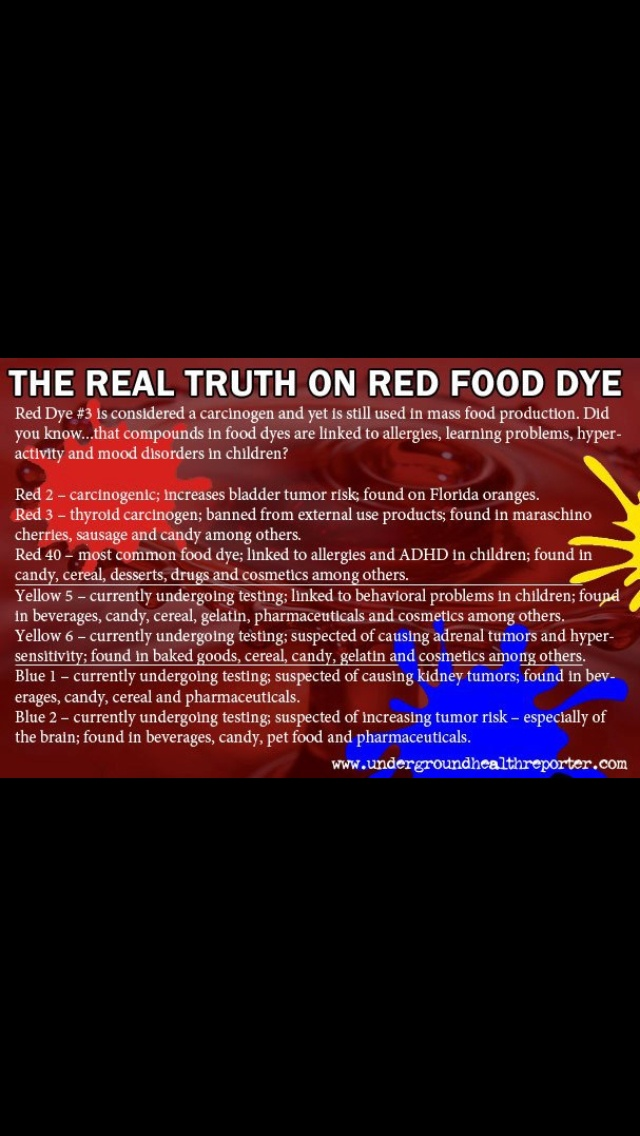 24 best For Bren and her Red Dye Allergy :( images on Pinterest ...