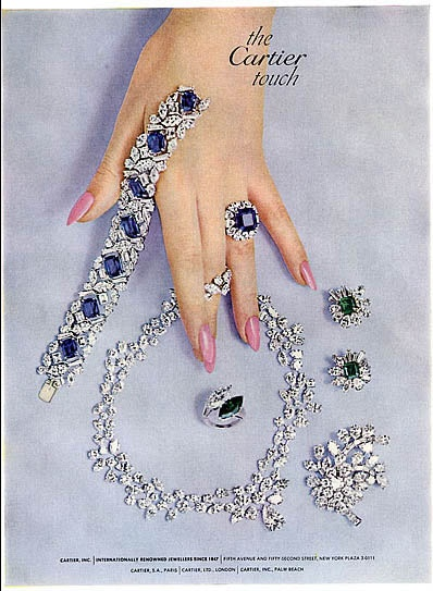 Cartier, 1963. #vintage #jewelry #ad