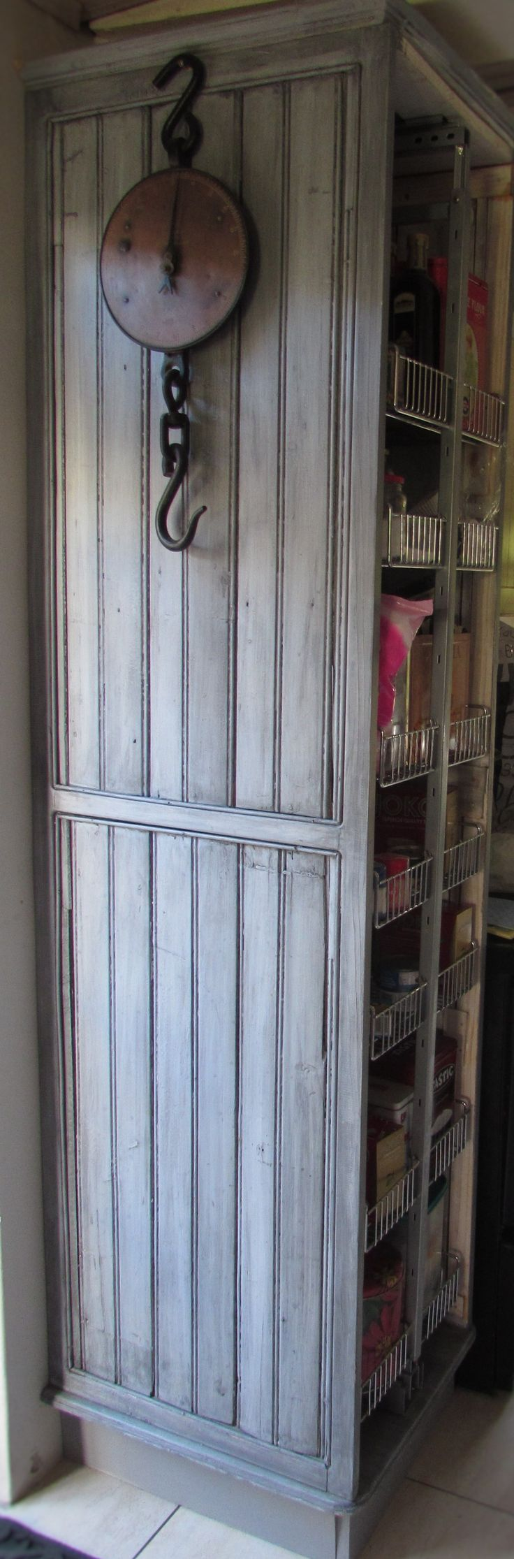 Grocery cupboard from recycled wood