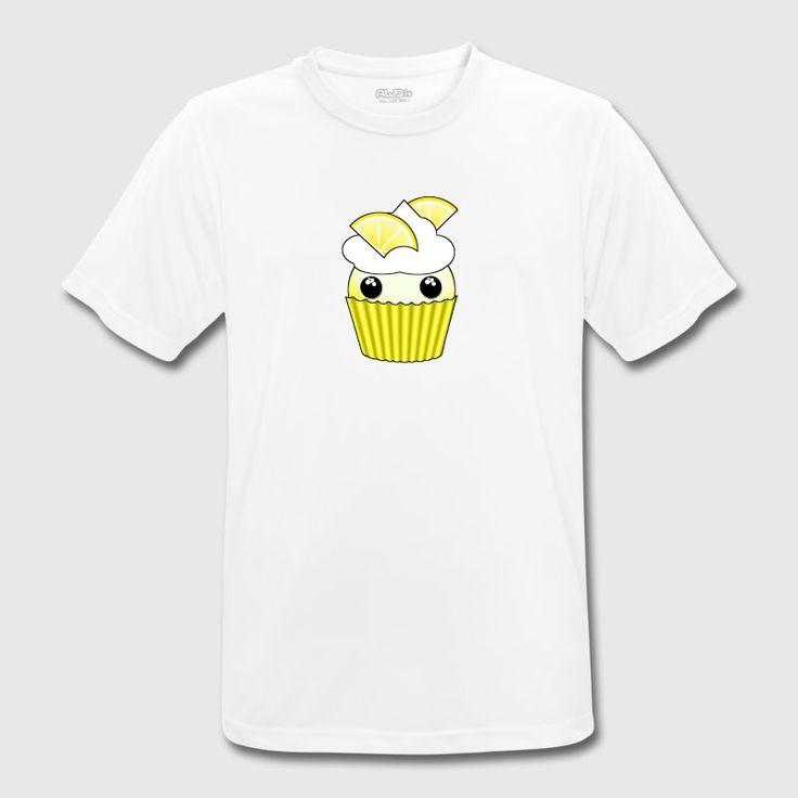 Kawaii lemon cupcake - Andningsaktiv T-shirt herr