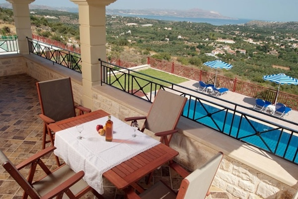 Villas in Crete for short term rent, consisting of two (2) luxury independent villas with private swimming pools, this beautiful complex is well located in a relaxing and beautiful location on the hillside overlooking the sea, ideal for your short term stay in Crete...