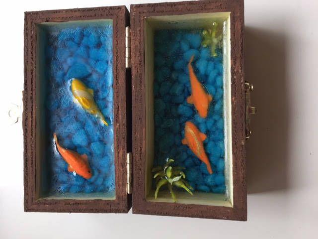 Treasure chest full of koi by CarikubeCafe on Etsy