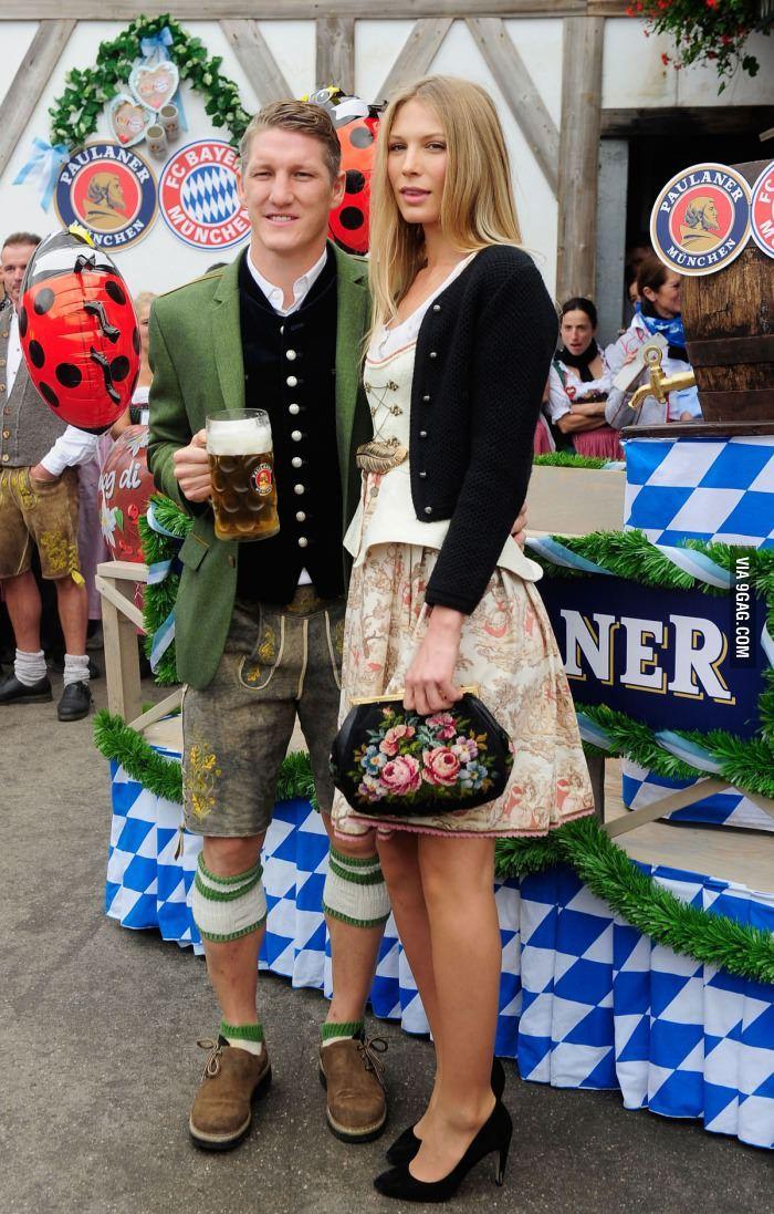 Cute oktoberfest outfit {German midfielder Bastian Schweinsteiger is the most German man ever.}