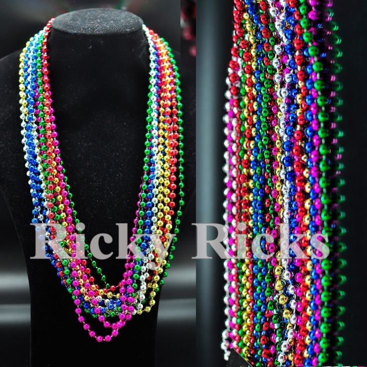 100 Party Necklaces  Years Eve Beads Mardi Gras Supplies Favors Decorations