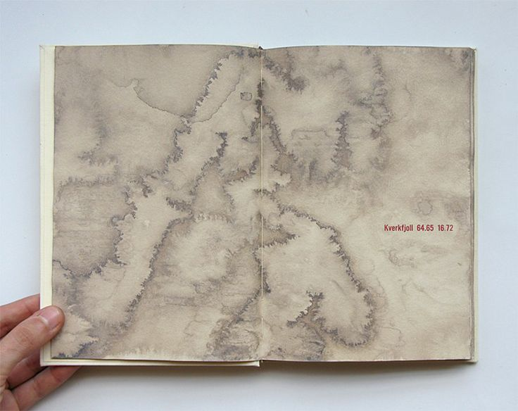 Volcanoes of Iceland, Marianne Dages, Huldra Press One of a kind artist's book produced in 2007, contains the names of all the volcanoes of Iceland and their coordinates.